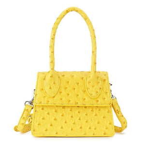 ostrich leather yellow bag edgy fashion edgability