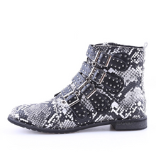 snakeskin ankle boots edgability side view