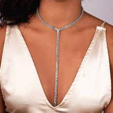 silver crystals choker edgability model view