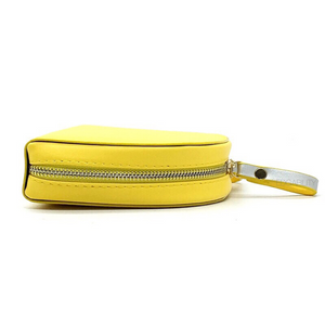 yellow sling bag and petals strap side view edgability