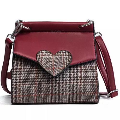 plaid bag heart red bag edgability