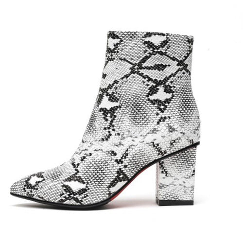 snakeskin boots ankle boots heeled boots edgability
