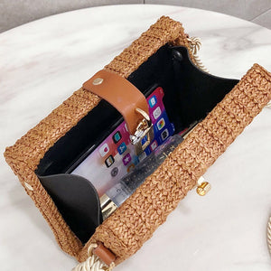 basket clutch bag brown box bag edgability open view