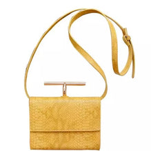 snakeskin envelope yellow clutch bag edgability full view
