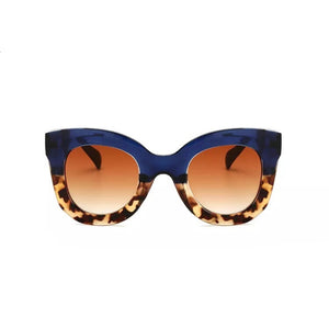 blue shades leopard sunglasses edgability front view