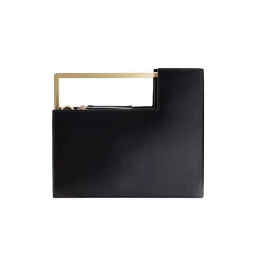 classy black bag formal clutch bag with gold handle edgability