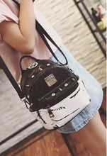 marble backpack studded bag edgability model view