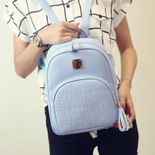 croc embossed blue mini backpack edgability