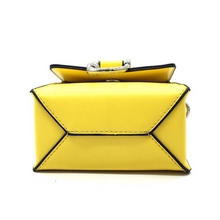 structured yellow sling bag bottom view edgability