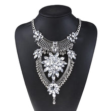 statement necklace edgability silver layered necklace model view