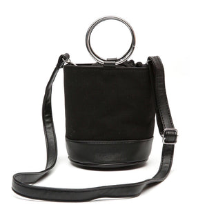 black bag bucket bag sling drawstring bag edgability