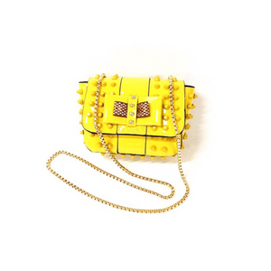 studded bag yellow sling bag edgability
