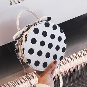 polka dots bag box bag round bag edgability angle view