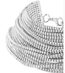 crystal layered statement necklace choker edgability detail view