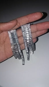 long statement earrings crystal earrings chic jewelry edgability size view