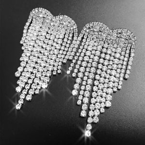 crystal heart diamonte statement earrings edgability top view