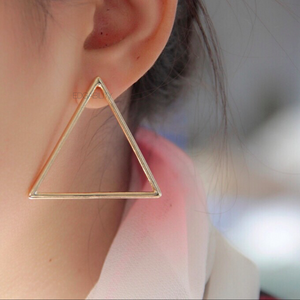 triangle earrings gold earrings edgability