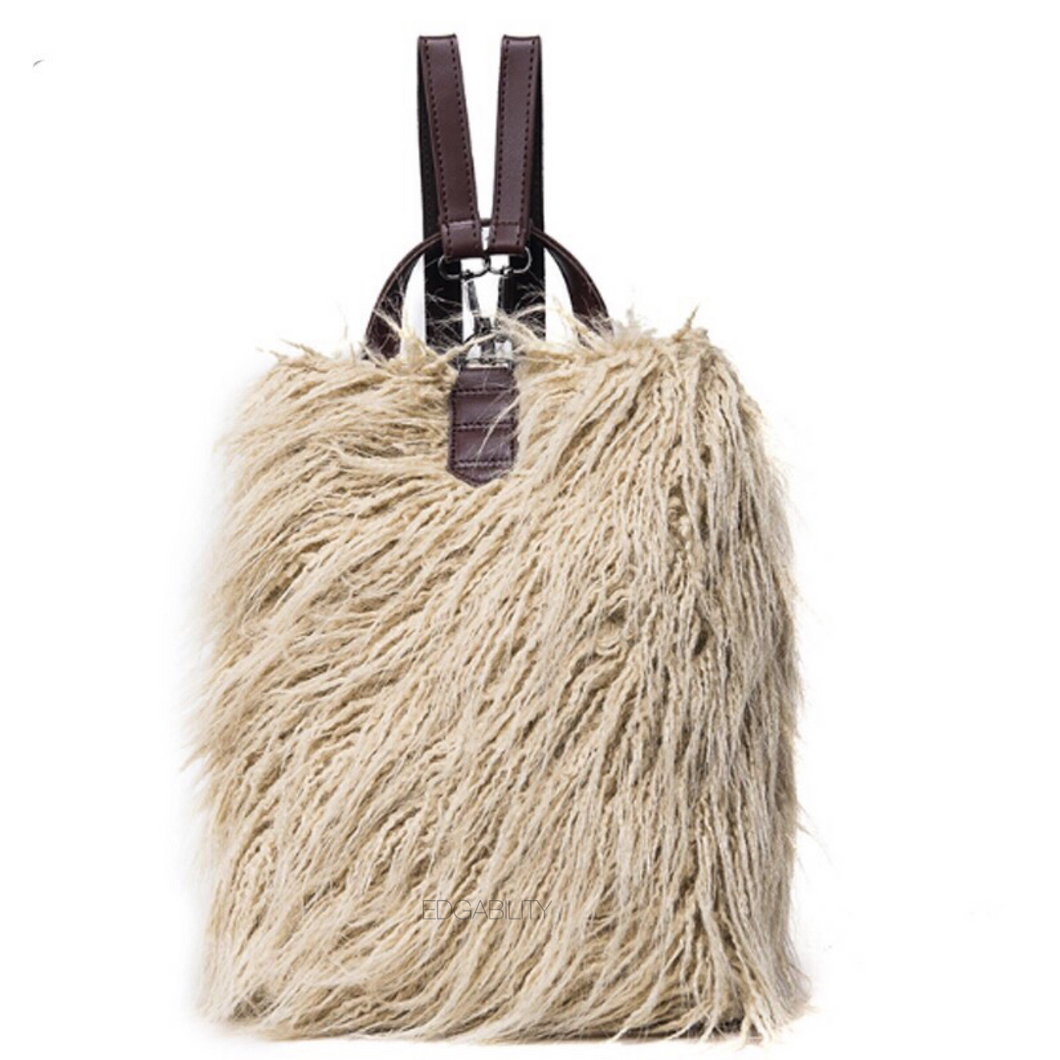 fur bag mini backpack edgability