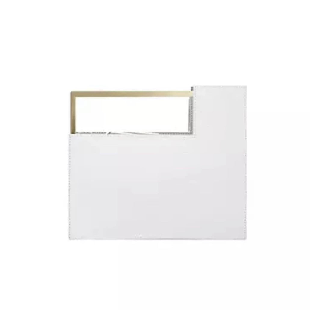 geometric classy white bag with gold handle edgability