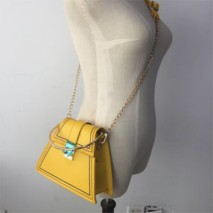 yellow bag sling bag triangle bag edgability size view