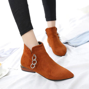 ankle boots brown boots silver cut heel edgability model view