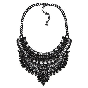 black necklace layered statement jewelry edgability