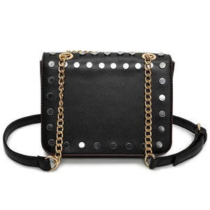 silver gold studded bag black bag edgability back view