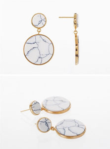 marble earrings gold earrings statement jewelry edgability detail view
