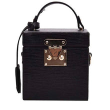 classy leather black box bag edgy fashion edgability front view
