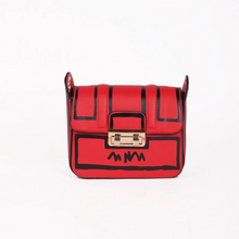 black on red sketch bag edgability