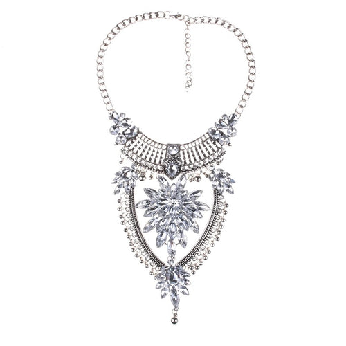 statement necklace edgability silver layered necklace
