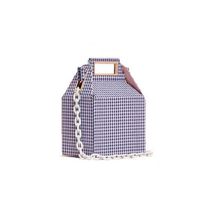 box bag checkered bag sling bag blue bag edgability