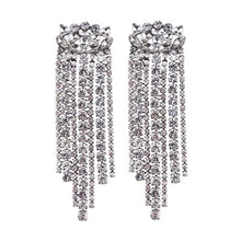 edgy classy silver crystal dangler earrings edgability