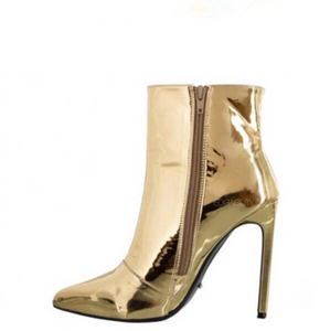 gold boots ankle boots edgability side view
