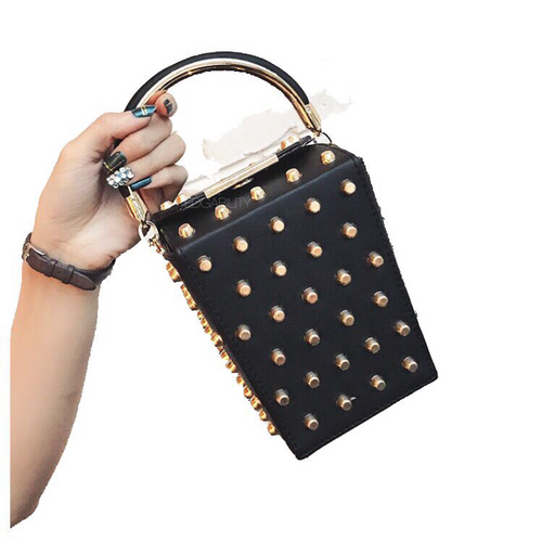 studded bag box bag black bag edgability