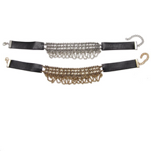 leather silver choker ethnic edgability top view