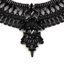 trendy black necklace statement jewelry edgability detail view