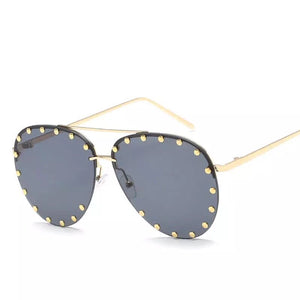 black shades studded sunglasses aviators edgability
