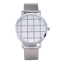 grid metallic silver straps silver watch edgability