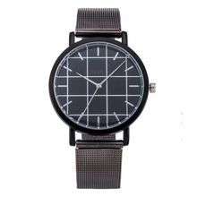 grid metallic black straps black watch edgability
