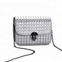woven purse silver bag edgability
