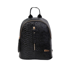 black mini backpack croc skin bag edgability