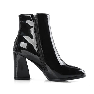 patent leather boots black boots ankle boots edgability inner view