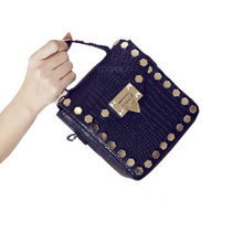 black bag studded bag classy bag edgability front view