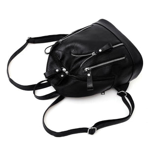black backpack jacket backpack edgability top view