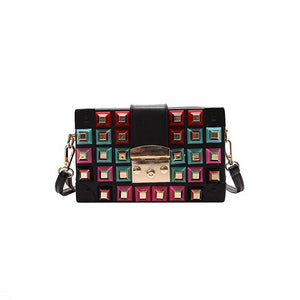 studded bag black bag trunk bag edgability
