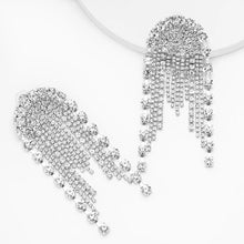 crystal studded chandelier statement earrings edgability front view