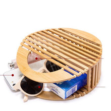 bamboo bag round bag box bag travel bag edgability top view