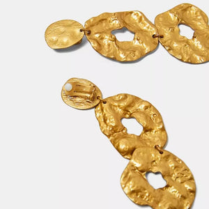 egyptian gold statement earrings edgability top view