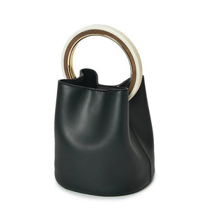 black bag bucket bag luxury bag wristlet edgability